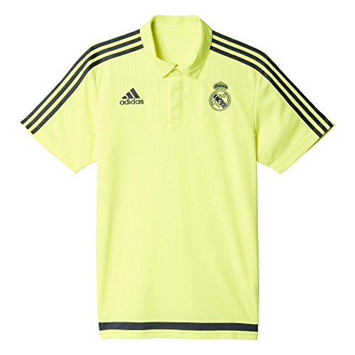 adidas UEFA Champions League Real Madrid CF - Polo, color amarillo / gris, talla XL