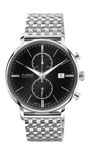Dugena Herren-Armbanduhr FESTA CHRONO Chronograph Quarz Edelstahl 7090181
