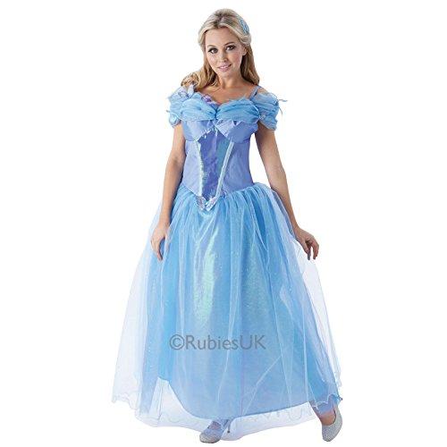 Rubies Damen Disney Prinzessin Realfilm Cinderella Kostüm - Blau, - Rubies Cinderella Kostüm