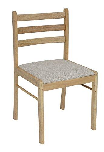 Antik Natur Gepolsterte Esszimmer oder Küche Stuhl (2Stück) -