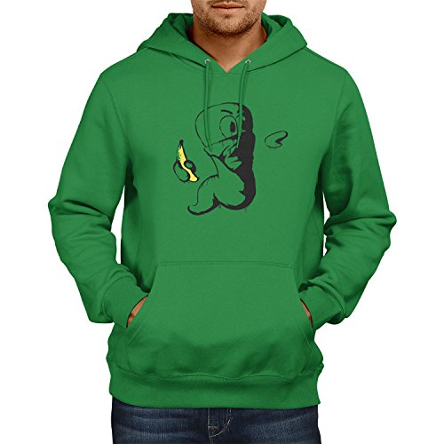 TEXLAB - Banksy Worm - Herren Kapuzenpullover, Größe XL, grün (Künstler Kostüme 2017)
