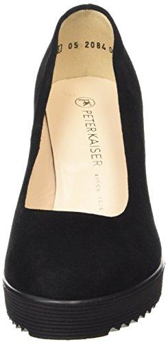 Peter Kaiser Finna, Chaussures à talons avec plateau femme Noir - Schwarz (SCHWARZ SIGA 307)