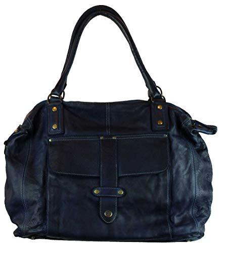 BZNA Bag Viola Blau blue taly Designer Damen Handtasche Ledertasche Schultertasche Tasche Leder Shopper Neu