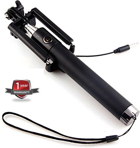 Advotis world Black Selfie Stick Compatible with iOS & Android Phones