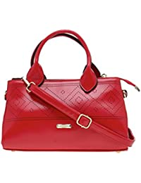 ESBEDA Red Solid Pu Synthetic Material Arm Handbag For Women's