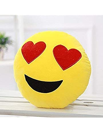 "Huge Giant Large Smiley Emoticon Cushion Pillow 50cm 20/"" Heart Eyes Goofy Kiss"