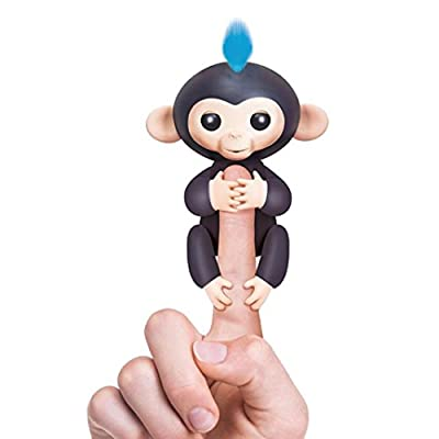 VENMO Cute Fingerlings Pet Baby Monkey Toy Hanging On Finger Children Interactive Toy (Black)
