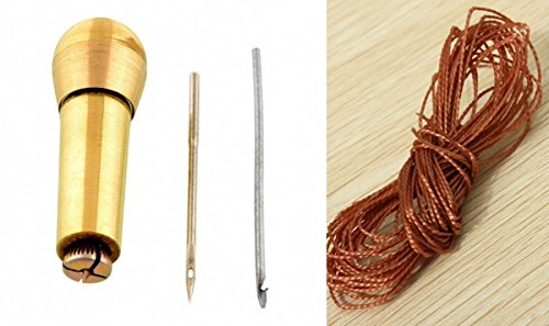 chengyida-shoe-repair-kit-sewing-awl-kit-2-metters-nylon-cord-thread-in-brown-and-sewing-awl-hook
