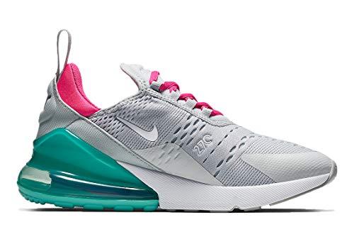 Nike Damen Air Max 270 Leichtathletikschuhe, Mehrfarbig (Pure Platinum/White/Pink Blast 065), 39 EU