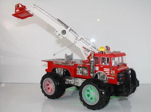 Unbekannt RC Feuerwehrauto Fire Fighter Einsatzlicht Sirene Feuerwehr ferngesteuertes Auto mit echtem Einsatzlicht und Sirene - Hammerbeleuchtung*