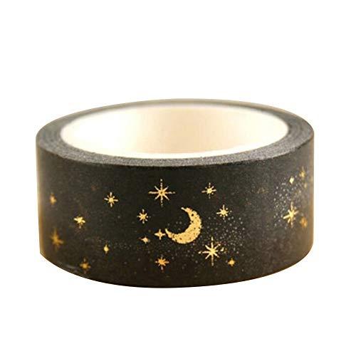 Tangbasi Washi Tape, weihnachtliche goldene Silberfolie, dekoratives Klebeband, Klebeband, Scrapbooking, DIY Craft Geschenk, G002, Einheitsgröße