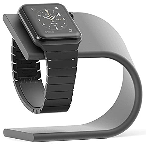 Apple Watch Stand,PUGO TOP Premium Charging Station per Apple Watch Series 1/Series 2/Sport -gris