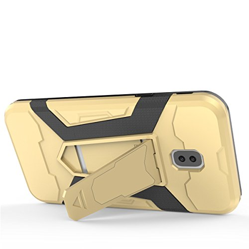 Custodia Samsung Galaxy Note 8 , Gray Plaid Rugged Dual Layer Hybrid Full-body Protective Back Shockproof Armour Phone Case with Kickstand Function per Samsung Galaxy Note 8 - Oro Marrone