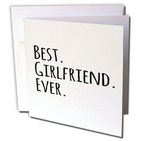 Best Freundin Ever-Romantische Liebe und stammt-Grußkarte, 15,2x