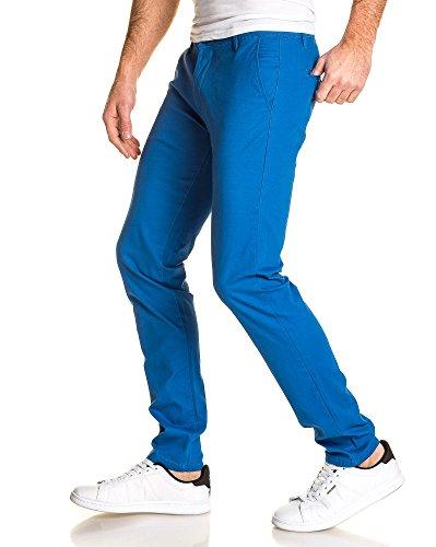 BLZ jeans - Pantalon chino bleu homme Bleu