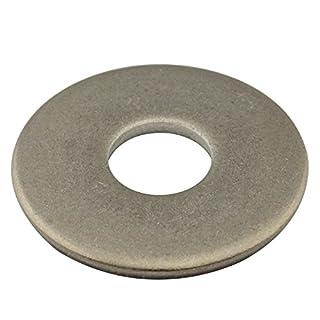 SC-Normteile | 100 Stück Große Unterlegscheiben (Beilagscheiben) | M4 | DIN 9021 | rostfreier Edelstahl A2 (V2A) | SC9021