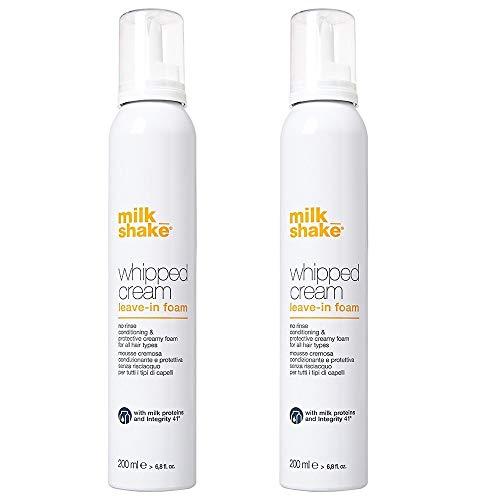 Milk_shake whipped cream leave aus Foam 2 x 200 ml Konditionierer und schützende für alle Haartypen -