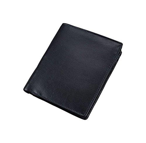 Folie Im Schwarzen Bereich (Alassio 42058 - Kombibörse mit RFID-Folie im Hochformat, aus hochwertigem Nappaleder, ca. 12,5 x 10 x 2 cm, schwarz)