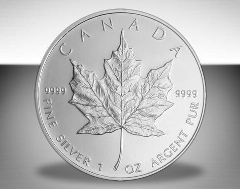 KANADA / CANADA 1 Unze Silbermünze 5 $ KANADISCHE SILBERDOLLAR Meaple Leaf 2012 - 999er Feinsilber Silber - Silber Münzen Barren