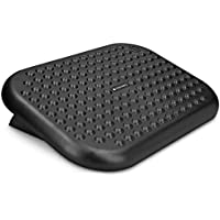 Navaris Adjustable Foot Rest - 0-15° Ergonomic Under Desk Office Foot Rest 44.8 x 33.5 cm
