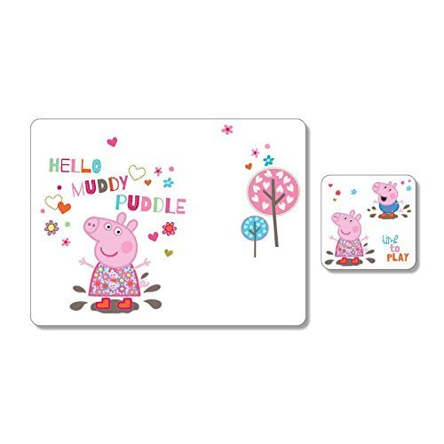 Tovaglietta e Coaster Blister Portmeirion Peppa Pig per bambini