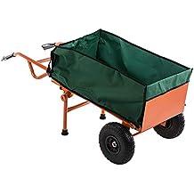 Trueshopping Carretilla Plegable Ligera Durable Industrial Carro de Mano para Sacos 2 en 1 Resistente Durable