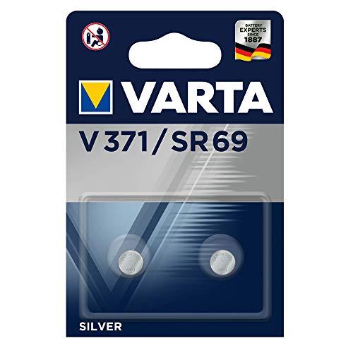 VARTA Batterien Alkaline Knopfzelle V371/SR69 Knopfzellen (2er Pack, in Original Blisterverpackung)