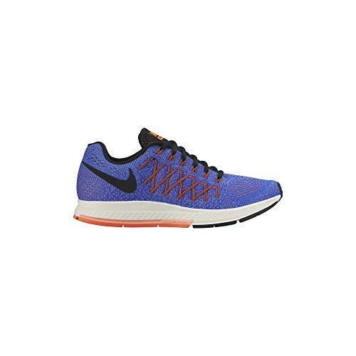 Nike Wmns Air Zoom Pegasus 32, Zapatillas de Running para Mujer, Azul (Rcr Bl/Blk-Hypr Orng-Brght MNG), 39 EU
