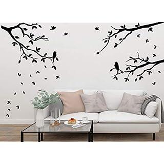 Wandtattoo-Wandaufkleber ***3er Set Äste inkl. Vögel + frei fliegende Blätter im Set ***Größen.- Farb und Ausrichtung frei wählbar!