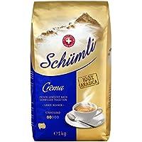 Schümli Crema Ganze Kaffeebohnen (1kg, Stärkegrad 2/5, Premium Arabica) 1er Pack x 1kg