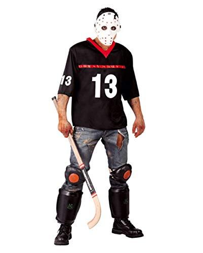 Horror EIS-Hockey Zombie Sportler Kostüm mit Maske für Halloween Partys One Size