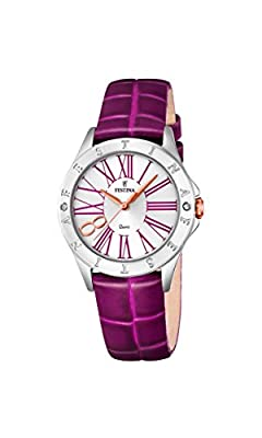Festina F16929/2 - Reloj de pulsera analógico para mujer con mecanismo de cuarzo y correa de cuero