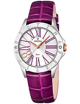 Festina Damen-Armbanduhr Journees Analog Quarz Leder F16929/2