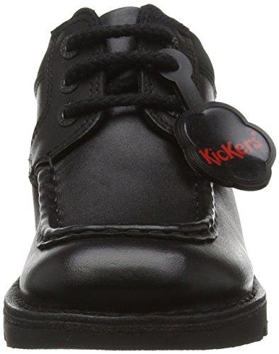 Kickers Kick Cyba Lace Youth, Bottes garçon Noir - Noir