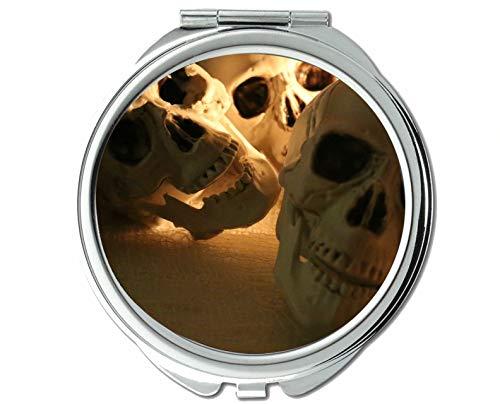 Yanteng Spiegel, Kleiner Spiegel, gruseliger, düsterer Tod, Taschenspiegel, 1 x 45-fache Vergrößerung