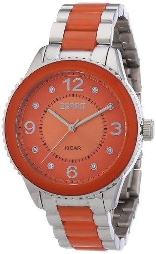 Esprit - ES106192005 - Montre Femme - Quartz Analogique - Cadran Orange - Bracelet Acier Orange