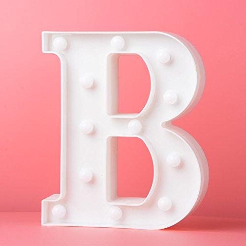 Up in Lichter Dekoration LED Alphabet Weiße Buchstaben Lichter Festzelt Licht Zeichen Batteriebetrieben für Party Hochzeit Empfänge Holiday Home & Bath Bridal Bar Decor (B)