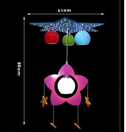 Kinderschlafzimmerlampe LED-Kronleuchter Kronleuchter kreative Cartoon junge Mädchen Kinderzimmer Kinder Auge, Beleuchtung - 4