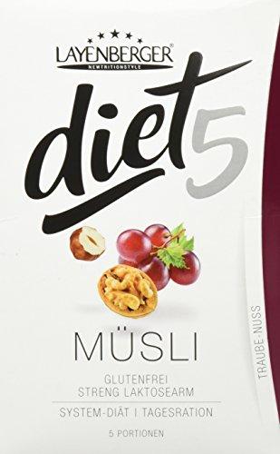 Layenberger diet5 Müsli Traube-Nuss, 5 Stück