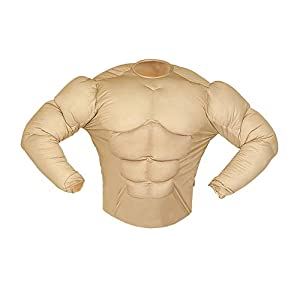 WIDMANN Muscle Shirt (Rambo Style) |Fake Chest Available Sizes : Mens up to a 46/48 chest (disfraz)