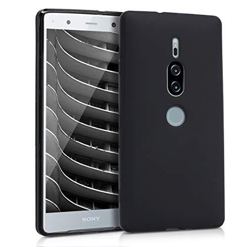 kwmobile Sony Xperia XZ2 Premium Hülle - Handyhülle für Sony Xperia XZ2 Premium - Handy Case in Schwarz matt