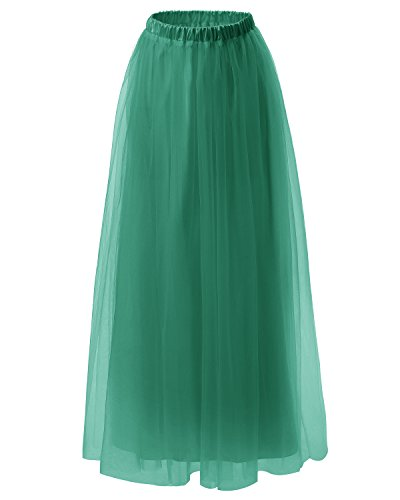 Dresstells jupe tutu années 50 vintage en tulle Rockabilly longueur ras du sol Vert