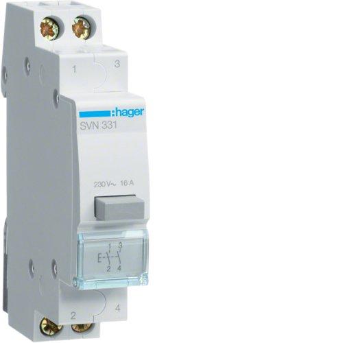 HAGER SVN331 S-TYPE 1MODULE(S) CORTA CIRCUITO - CORTA CIRCUITOS (16 A  17 5 MM  83 MM  -20 - 50 °C  -40 - 80 °C)