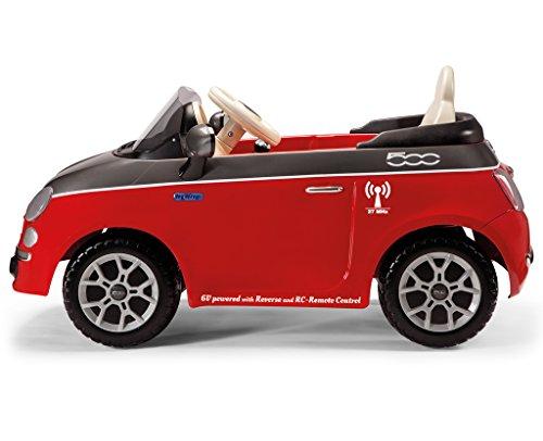 Ride-On-6V-Electric-Car-Children-Batteries-No-Remote-Control-Age-2-Peg-Perego-Fiat-500-Radiocomandata-batterie-6V-Rosso-grigio-ED1163