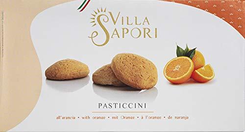 Villa Sapori Traditional Italian round-shaped Pastry with Orange flavor   Pasticcini all'Arancia 900 g case (5 pack x 180g)