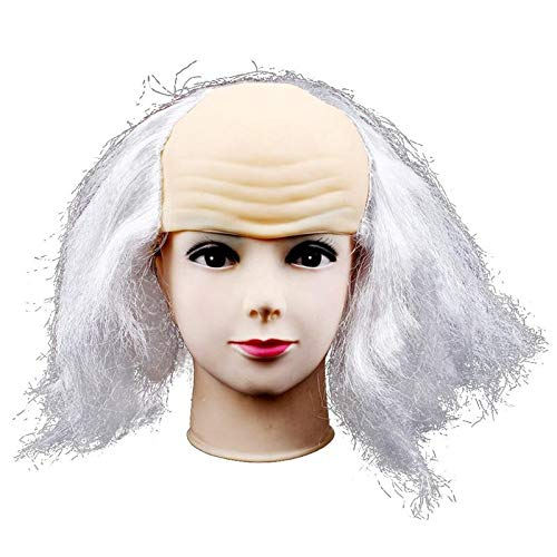 Perücke Kostüm Kappe Glatze - Wig Glatze Perücke Streich lustige Glatze Kappe Perücke Kopf Maske Latex Perücken for Halloween Kostüm Party Requisiten Maskerade Lady wig