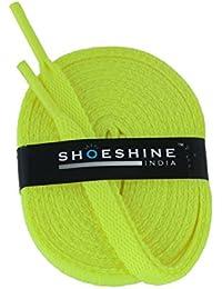 Shoeshine India florescent sport shoe lace flat shoelace (Set of 2 Pairs) Size S-120cm & 7mm W