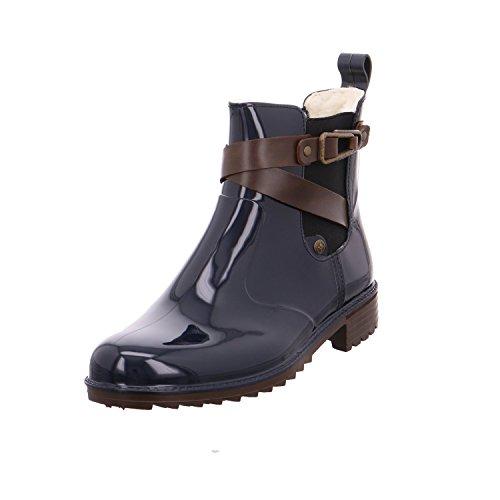 Rieker Damen Gummi-Stiefel gefüttert Blau, Schuhgröße:EUR 39
