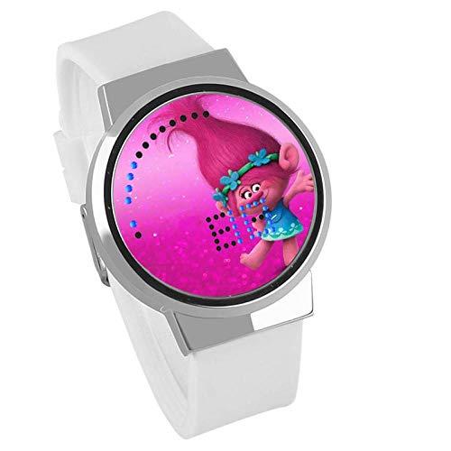 Relojes De Pulsera,Reloj De Pantalla Táctil Led Troll Feo Anime del Bebé Que Rodea Impermeable Luminosa Reloj Electrónico Regalo De Cumpleaños C