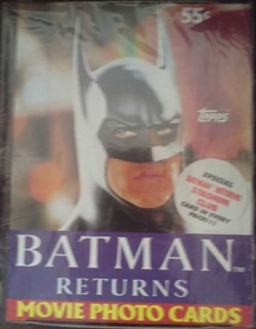 batman returns movie photo cards trading cards - sealed box 1992